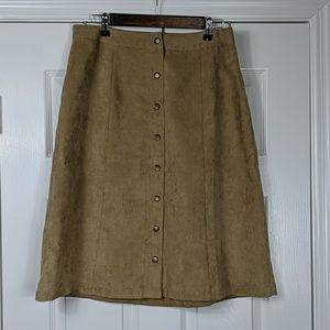 Croft & Barrow Faux Suede Skirt